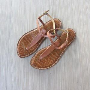 Sam Edelman Brown Gigi T Strap Sandal
